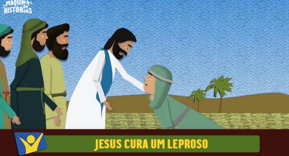 Jesus cura um leproso