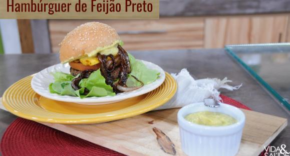 Receita: Hambúrguer de Feijão Preto