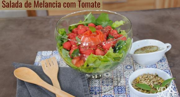 Receita: Salada de Melancia com Tomate