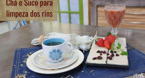 Receita: Chá e Suco para Limpeza dos Rins