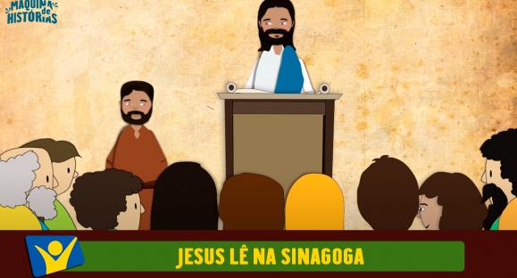 Jesus lê na sinagoga