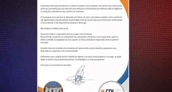 CDL apela para reforço nos cuidados em comércios