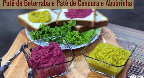 Receita: Patê de Beterraba e Patê de Cenoura com Abobrinha