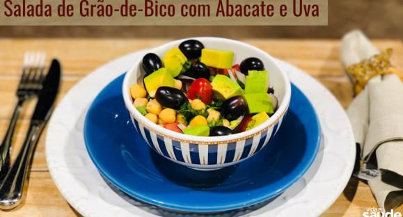Receita: Salada de Grão-de-Bico com Abacate e Uva