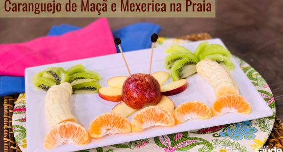Receita: Caranguejo de Maçã e Mexerica na Praia