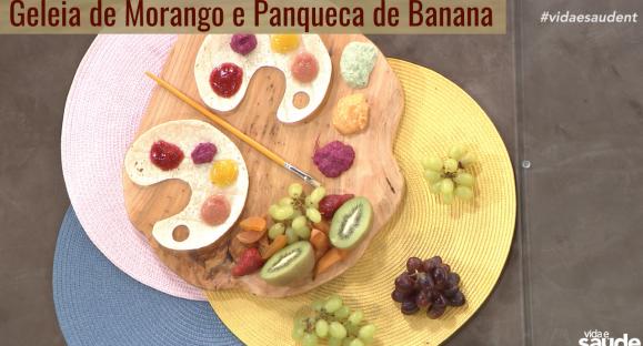 Receita: Geleia de Morango e Panqueca de Banana