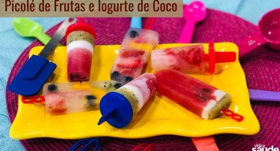 Receita: Picolé de Frutas e Iogurte de Coco