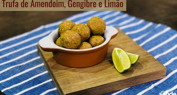 Receita: Trufa de Amendoim, Gengibre e Limão