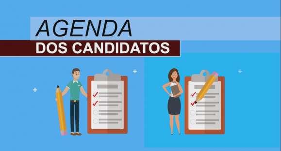 Confira as atividades dos candidatos nesta segunda-feira