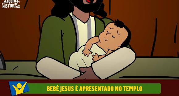 O bebê Jesus é apresentado no templo
