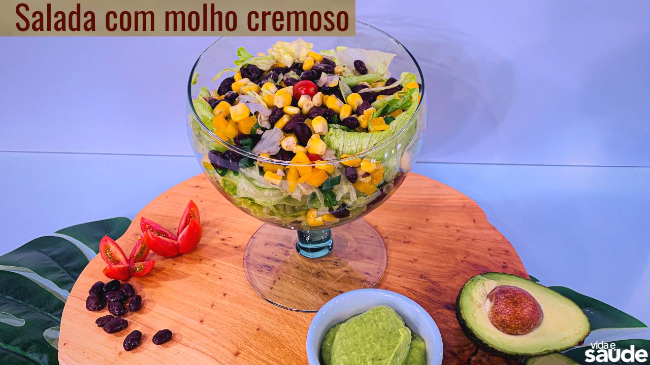 Receita: Salada com Molho Cremoso
