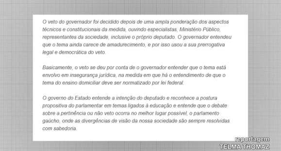Eduardo Leite veta projeto que instituiria educação domiciliar no RS