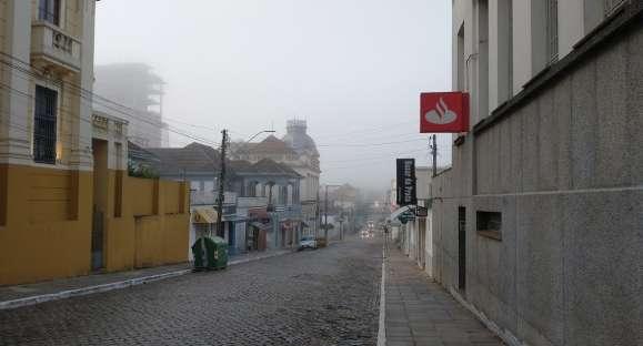Semana começa com nevoeiro em Cachoeira do Sul