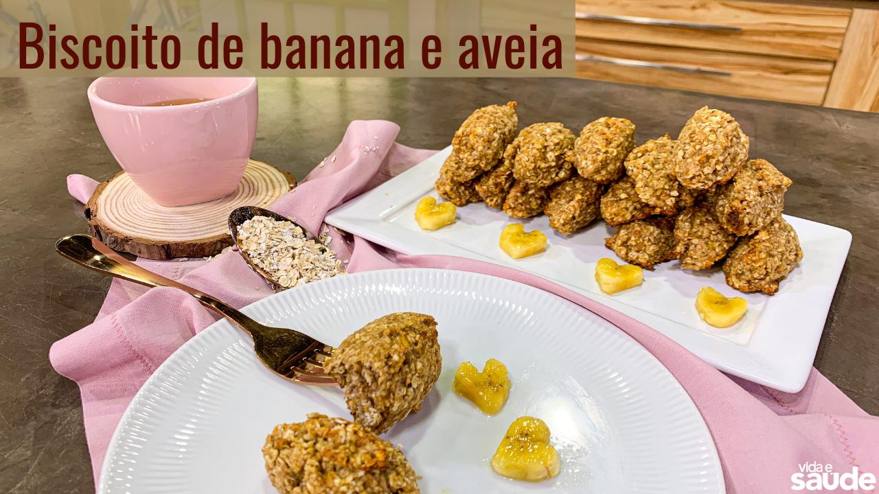 Receita: Biscoito de Banana e Aveia
