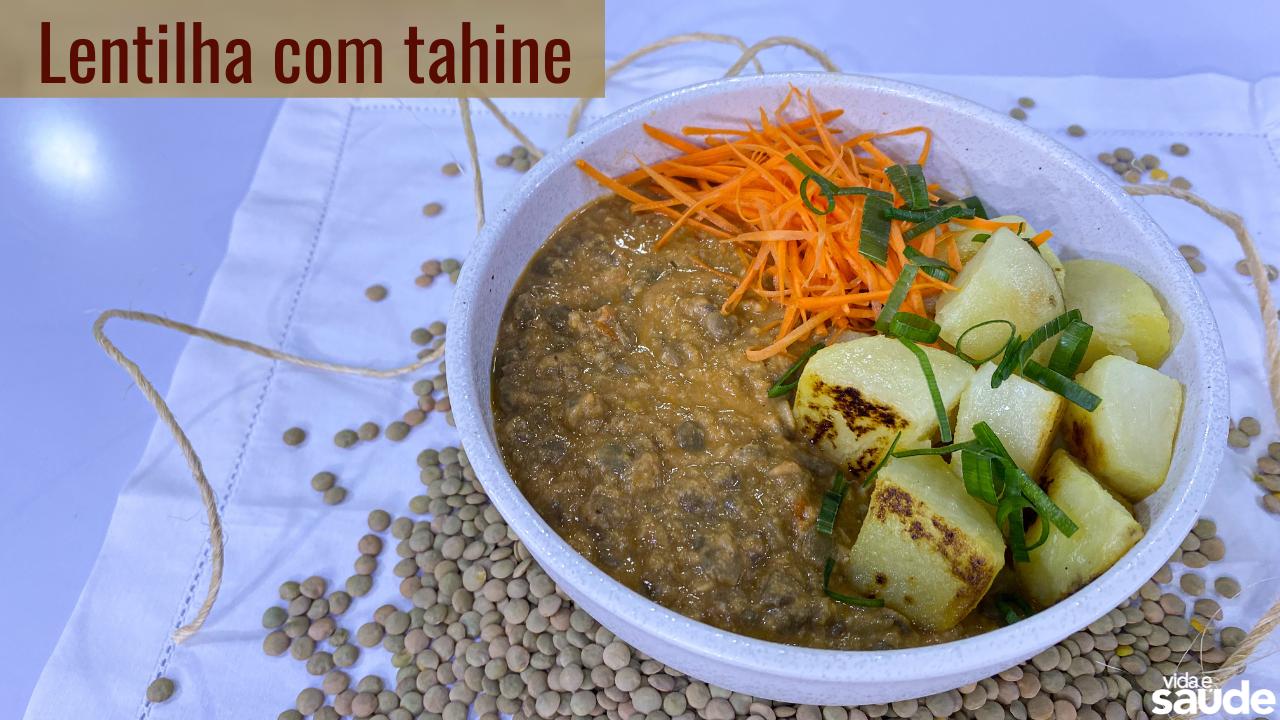 Receita: Lentilha com Tahine