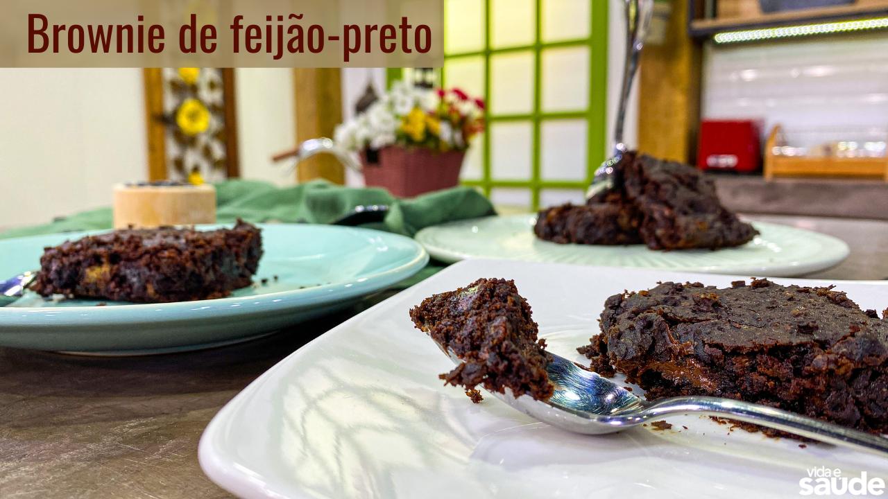 Receita: Brownie de Feijão-Preto